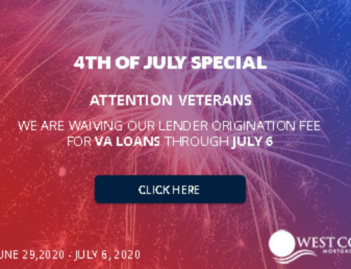 Independence Week Special – Origination Fee Waived for VA Loans
